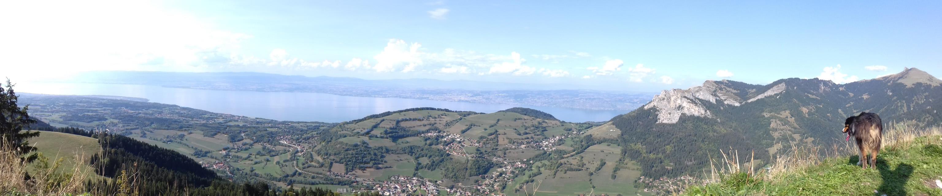 Bandeau vue sur le Leman depuis le mont baron